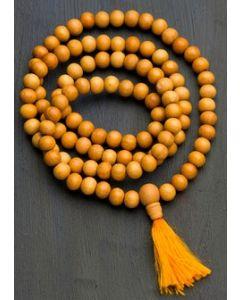 Mala kæde 108 perler - sandeltræ