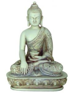 Buddha-rød-NO FEAR MUDRA