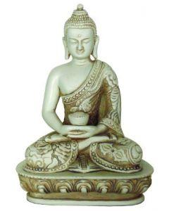 Buddha-rød-WHEEL OF DHARMA