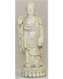 Buddha - Stående - sten look - 24,5 cm