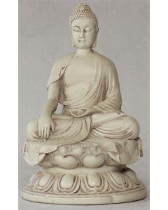 Buddha meditation-hvid-16,5 cm