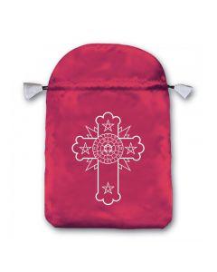 Stofpose i satin - Kors