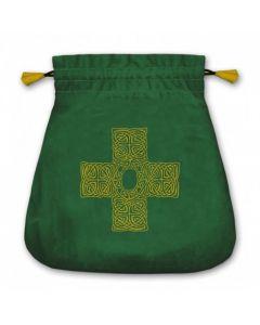 Stofpose i fløjl - Keltisk Kors