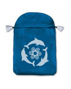 Stofpose i satin - Delfiner