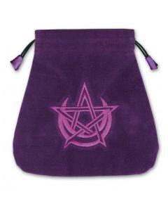 Stofpose i fløjl - Wicca