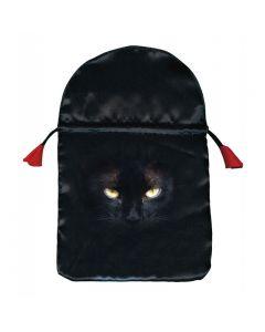 Stofpose i satin - Black Cat