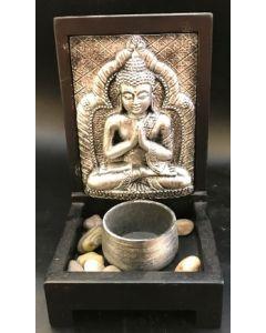 Glad buddha til fyrfadslys