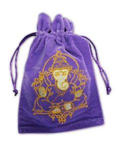 Stofpose i fløjl - Ganesh