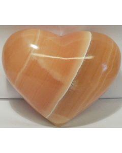 Gul Calcit Hjerte XL