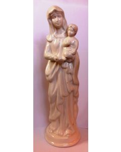 Madonna med barn hvid 26 cm
