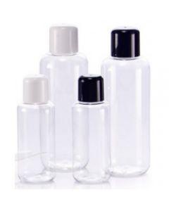 Klar plastflaske fåes i forskellig størrelse