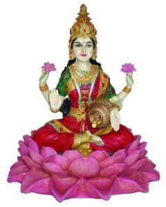 Lakshmi på Lotus 25 cm