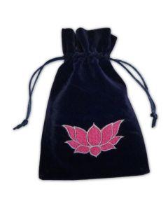 Stofpose i fløjl - Lotus