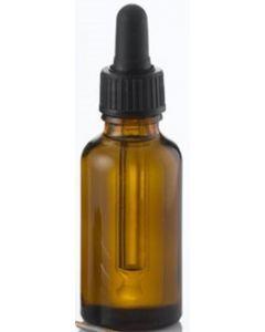 Brun glasflaske med pipette fåes i forskellig størrelse