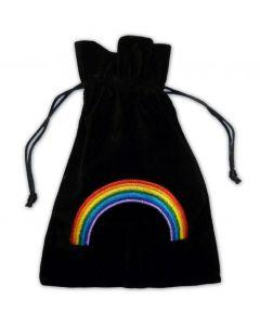 Stofpose i fløjl - Regnbue