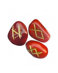 Rune Sæt Rød Jaspis