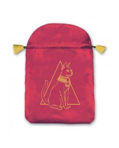 Stofpose i satin - Egyptisk Kat
