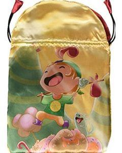 Stofpose i satin - Happy