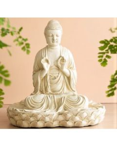 Stor buddha-antik grøn