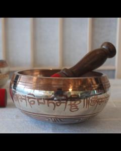 Syngeskål i sølv-kobber finish