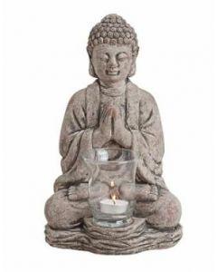 Grå Buddha til fyrfadslys