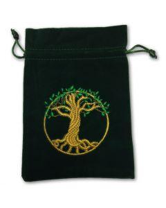 Stofpose i fløjl - Livets Træ