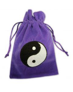 Stofpose i fløjl - Yin og Yang